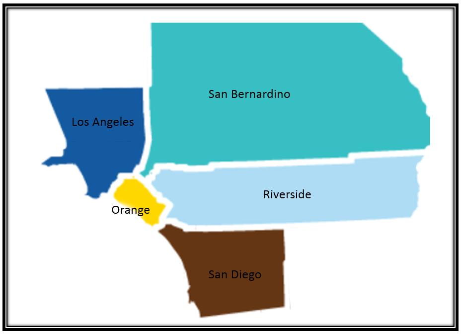 Areas Serviced: Los Angeles County, Orange County, Riverside County, San Diego County and partial San Bernardino County