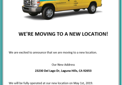 WE'RE MOVING TO A NEW LOCATION!